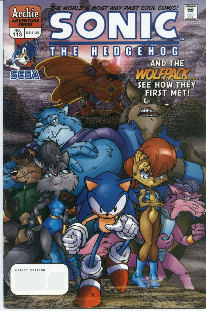 Sonic - Archie Adventure Series November 2002 Comic cover page