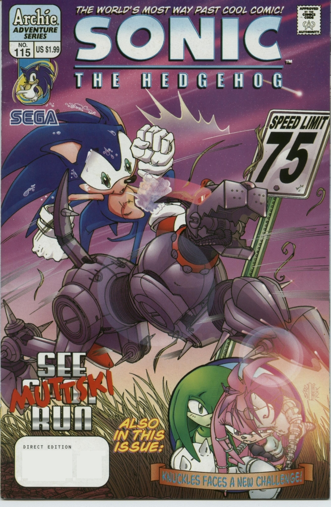Sonic - Archie Adventure Series December 2002 Comic cover page