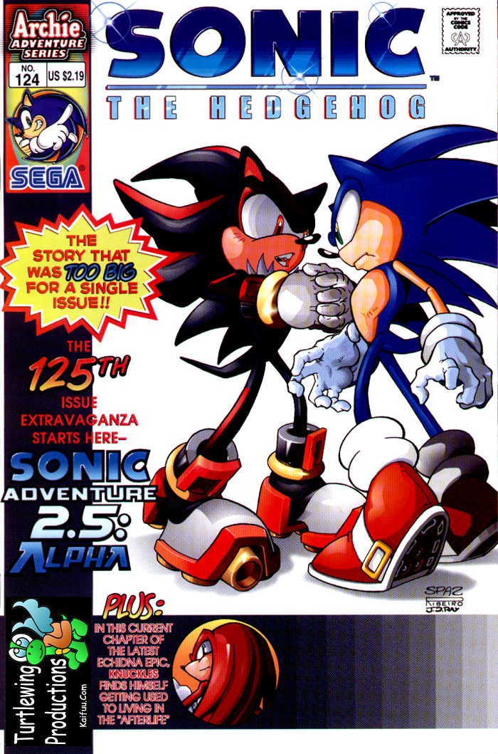Sonic - Archie Adventure Series July 2003 Comic cover page