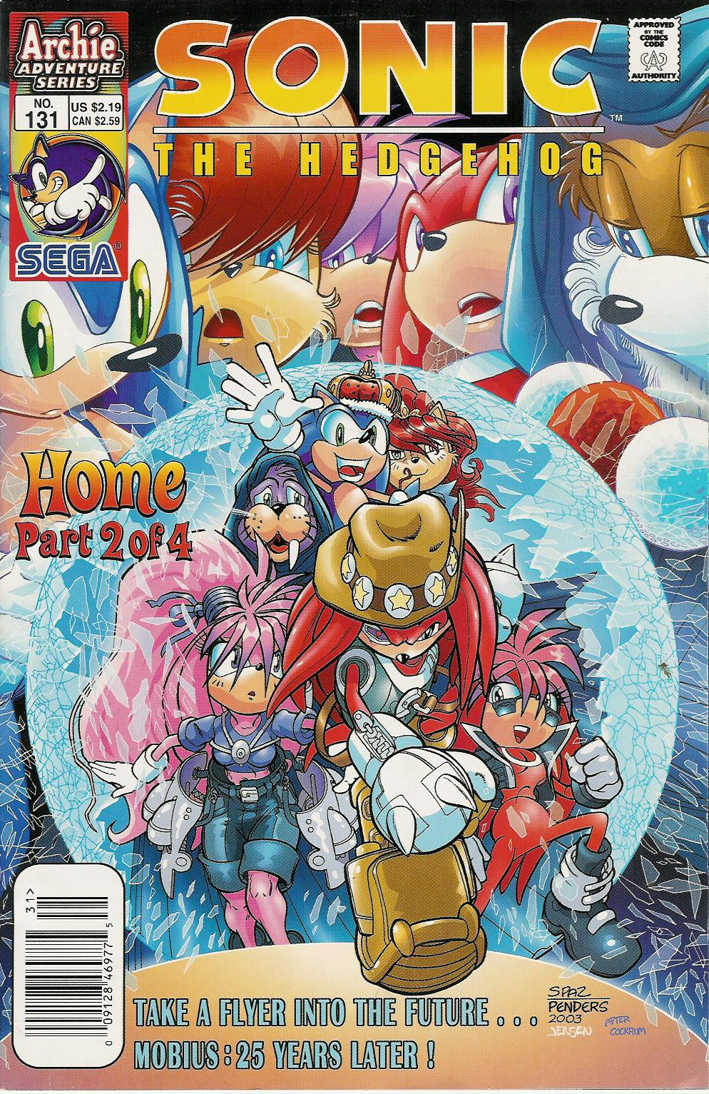 cover page sonic archie adventure series march 2004