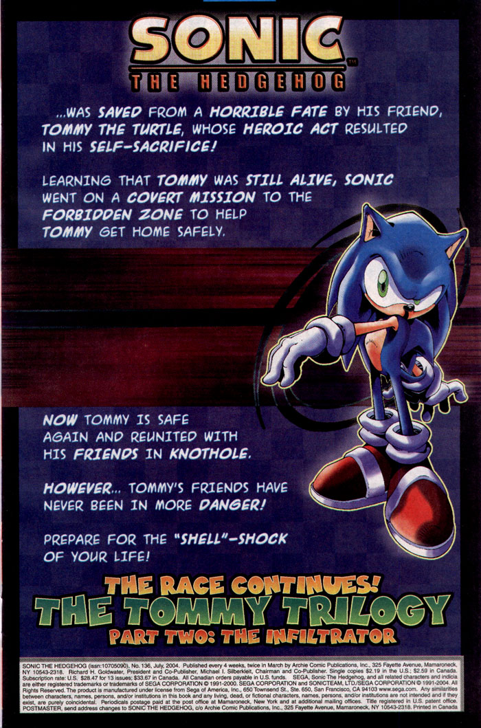 Sonic - Archie Adventure Series July 2004 Page 1