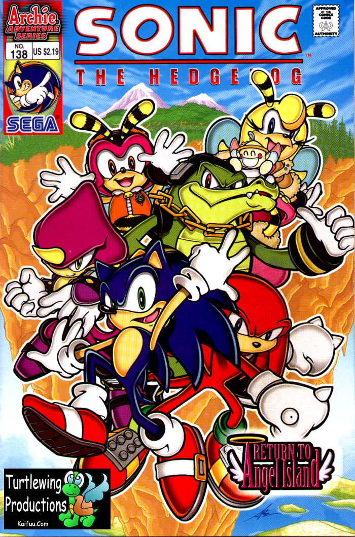 Sonic - Archie Adventure Series September 2004 Comic cover page