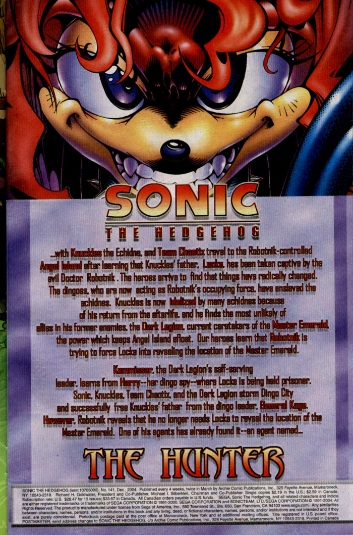 Sonic - Archie Adventure Series December 2004 Page 1