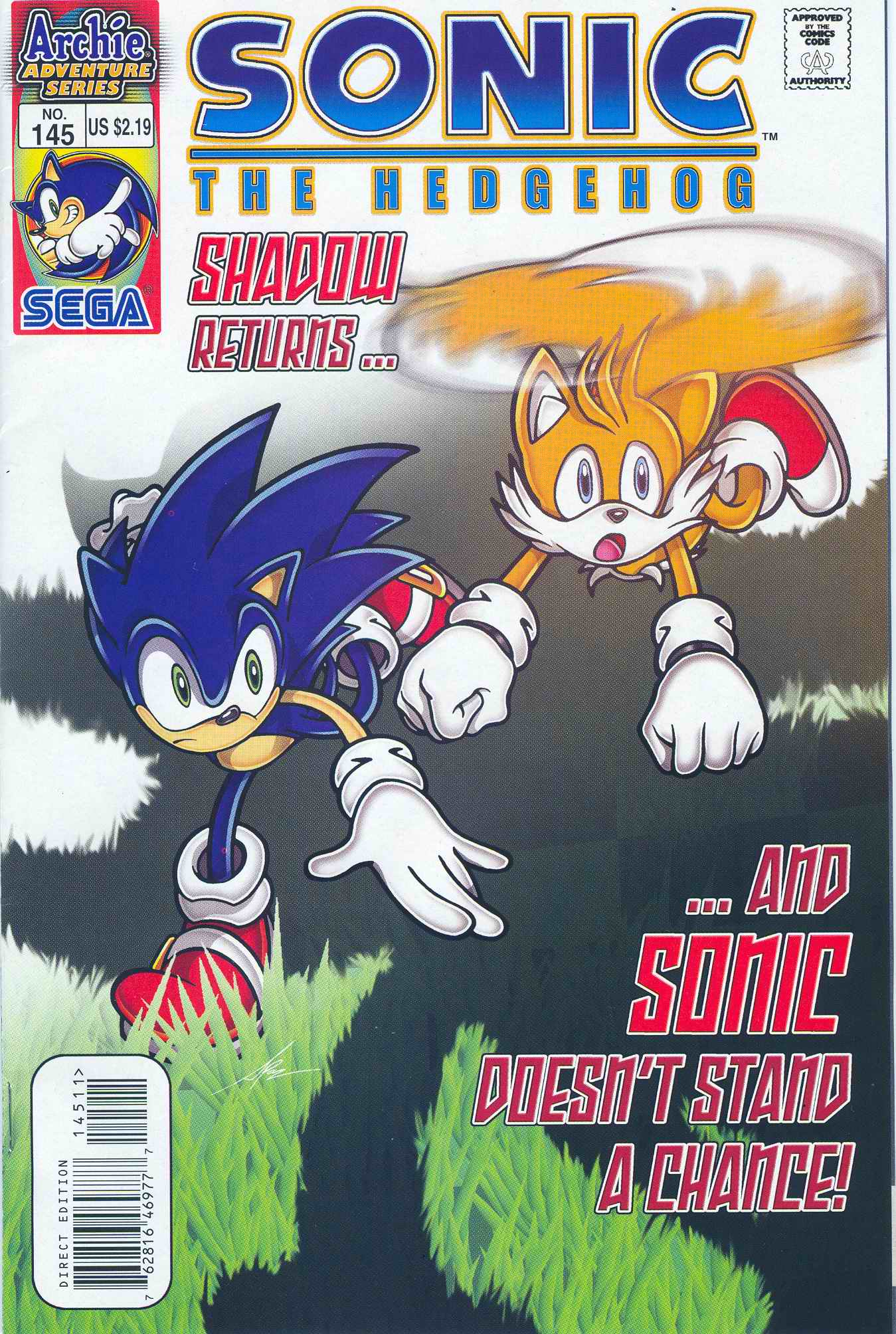 Sonic - Archie Adventure Series March 2005 Comic cover page