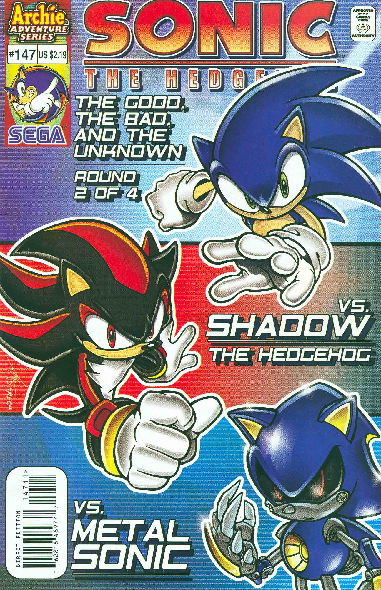 Sonic - Archie Adventure Series May 2005 Cover Page