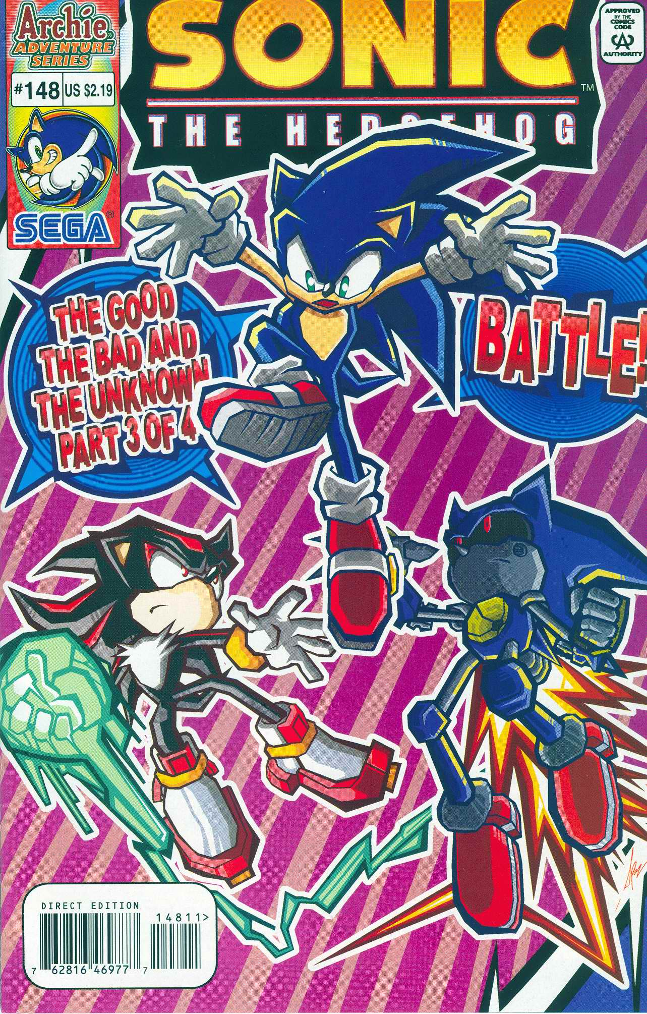 Sonic - Archie Adventure Series June 2005 Comic cover page