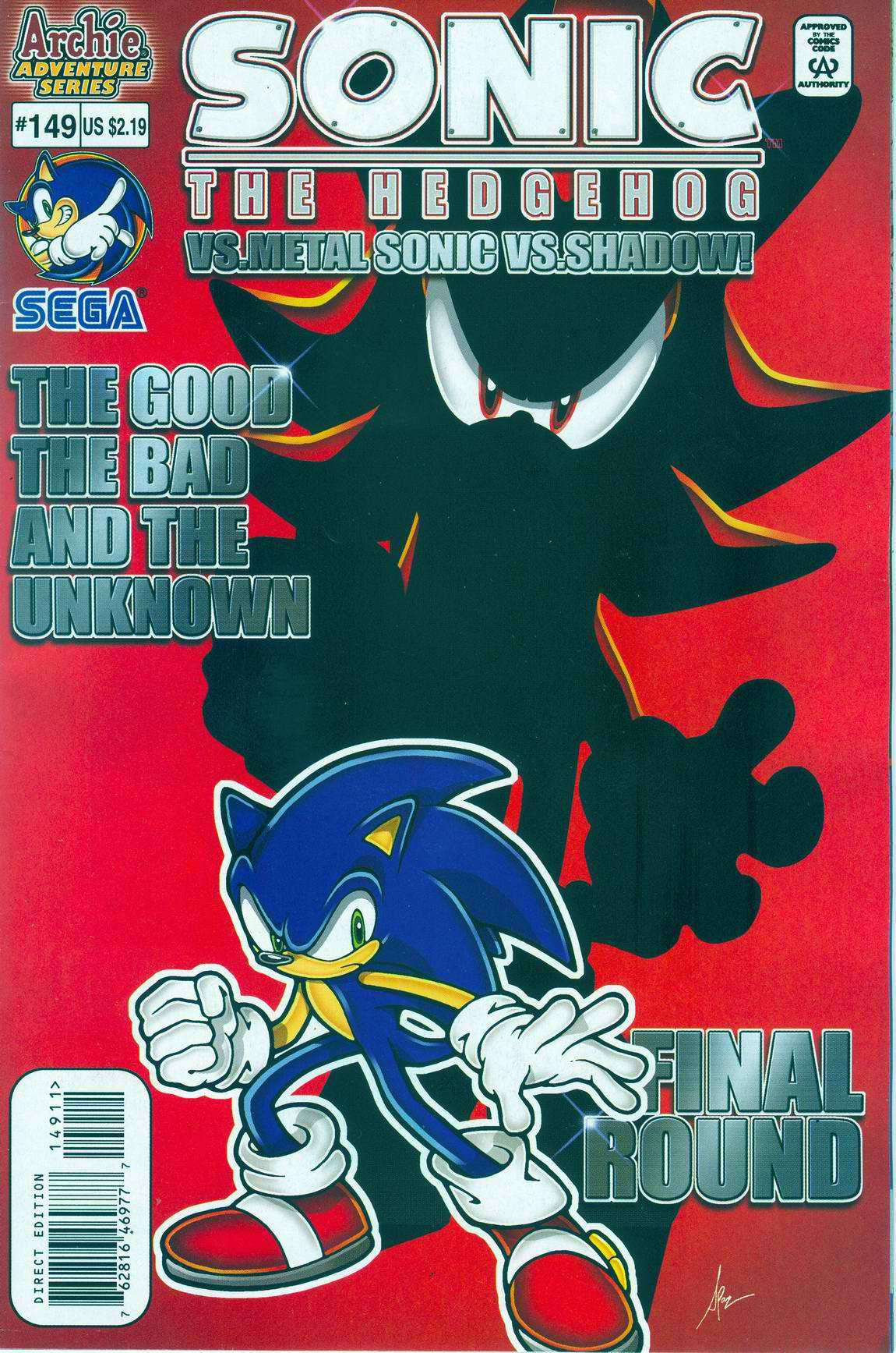 Sonic - Archie Adventure Series July 2005 Comic cover page