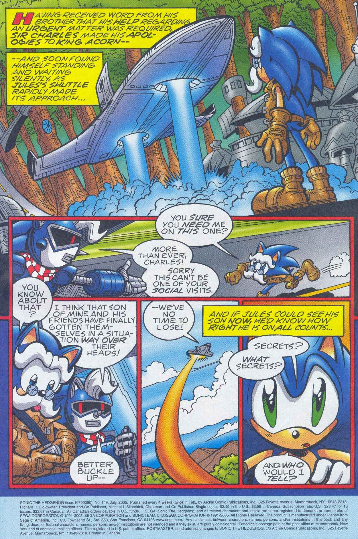 Sonic - Archie Adventure Series July 2005 Page 1