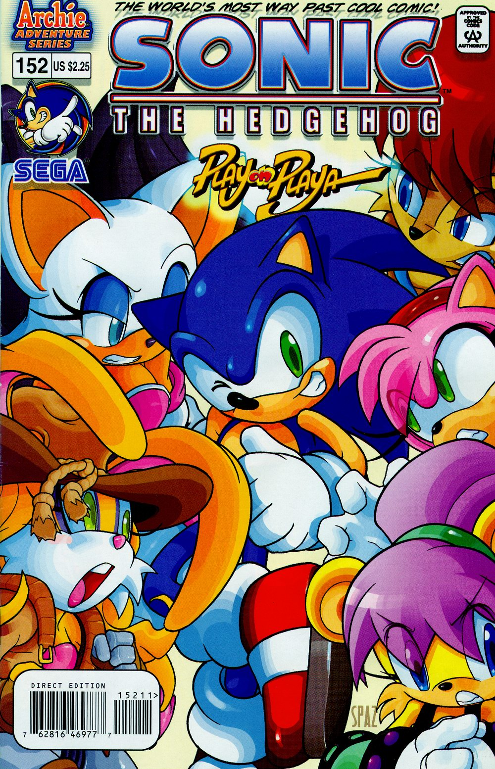 Sonic - Archie Adventure Series October 2005 Comic cover page