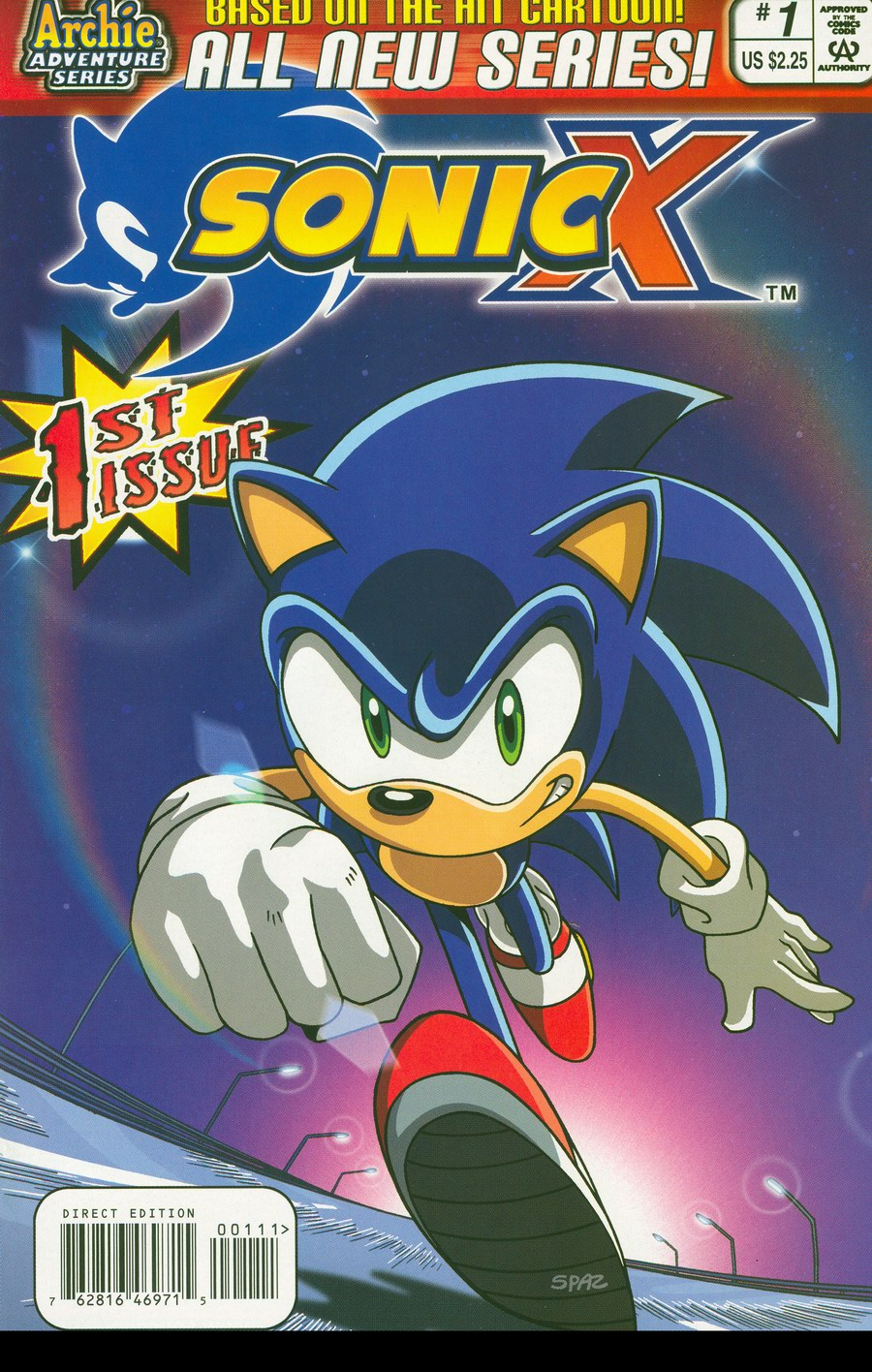 Sonic X - October 2005 Comic cover page