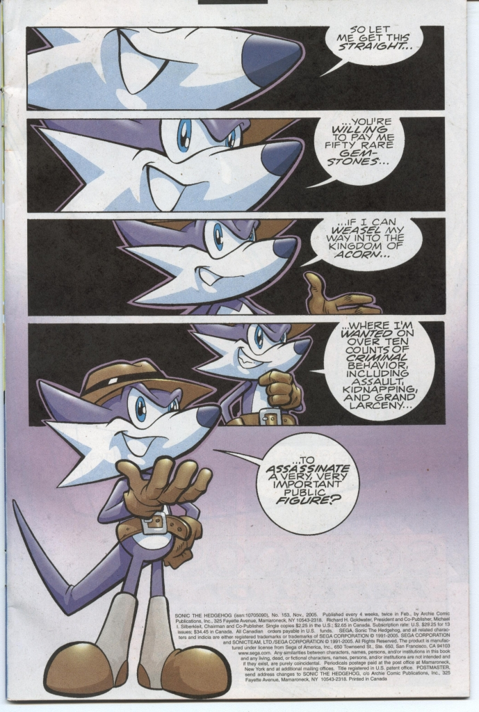 Sonic - Archie Adventure Series November 2005 Page 1