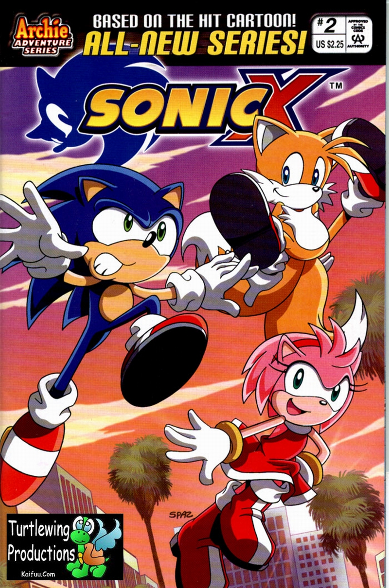 Sonic X - December 2005 Comic cover page