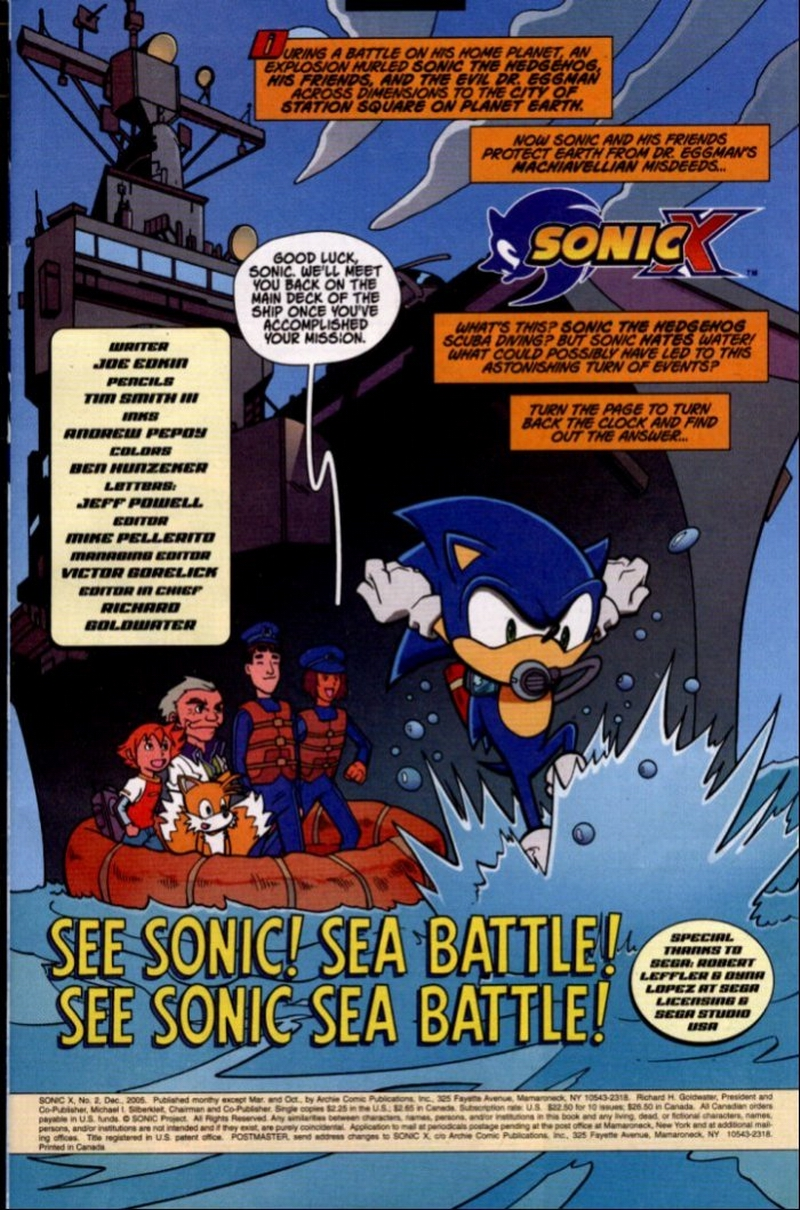 Sonic X - December 2005 Page 1