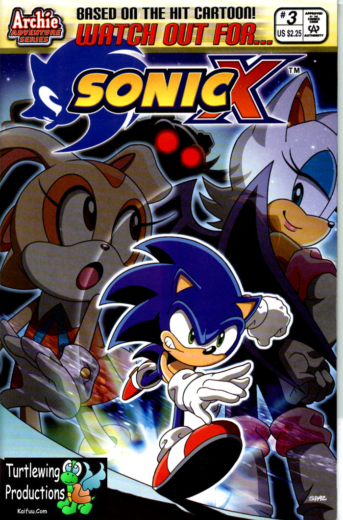 Sonic X - January 2006 Comic cover page
