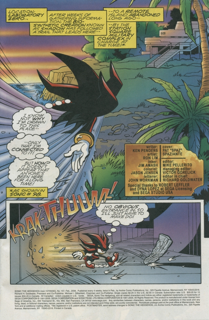 Sonic - Archie Adventure Series February 2006 Page 1