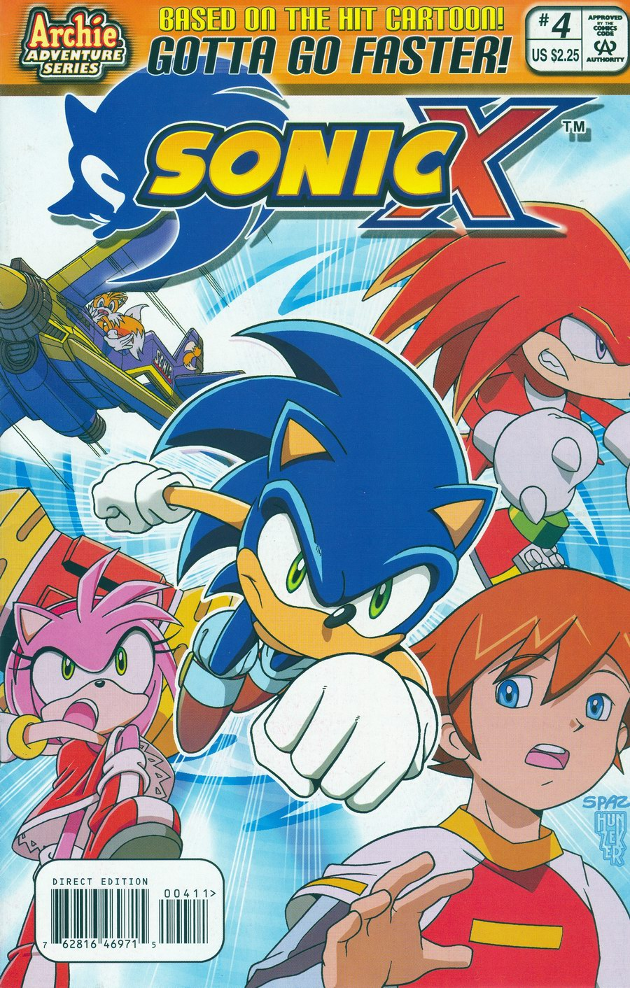 Sonic X - February 2006 Comic cover page