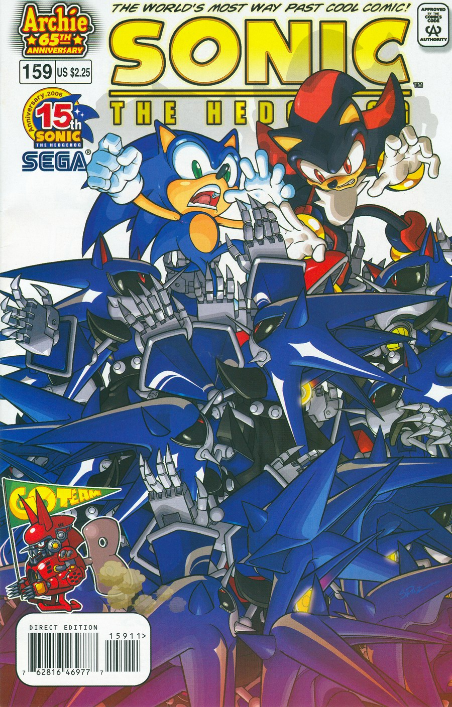Sonic - Archie Adventure Series April 2006 Comic cover page