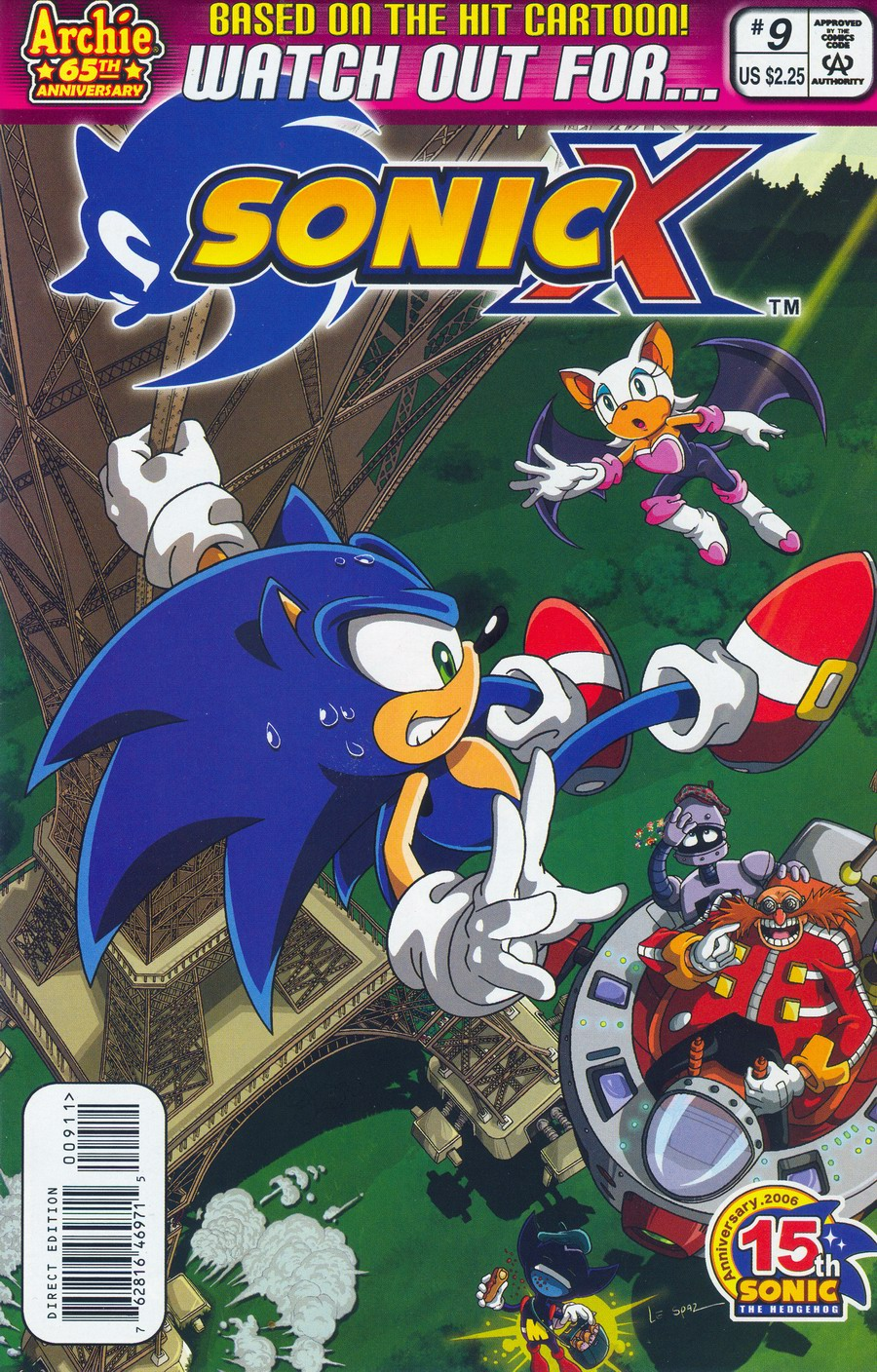 Sonic X - June 2006 Comic cover page