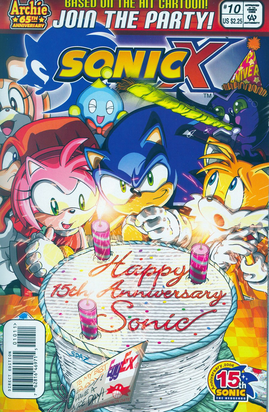 Sonic X - July 2006 Comic cover page