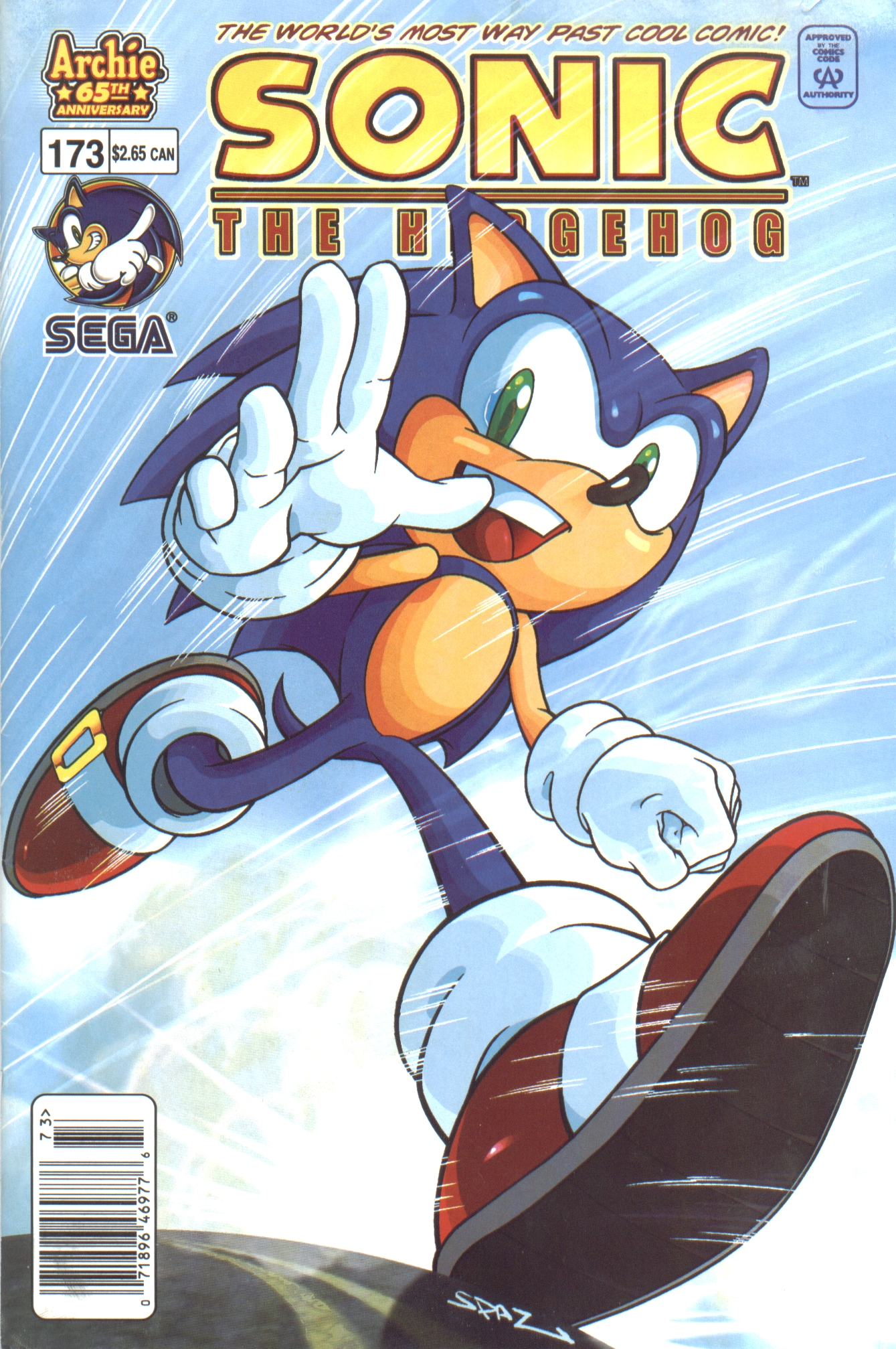 Sonic - Archie Adventure Series April 2007 Comic cover page