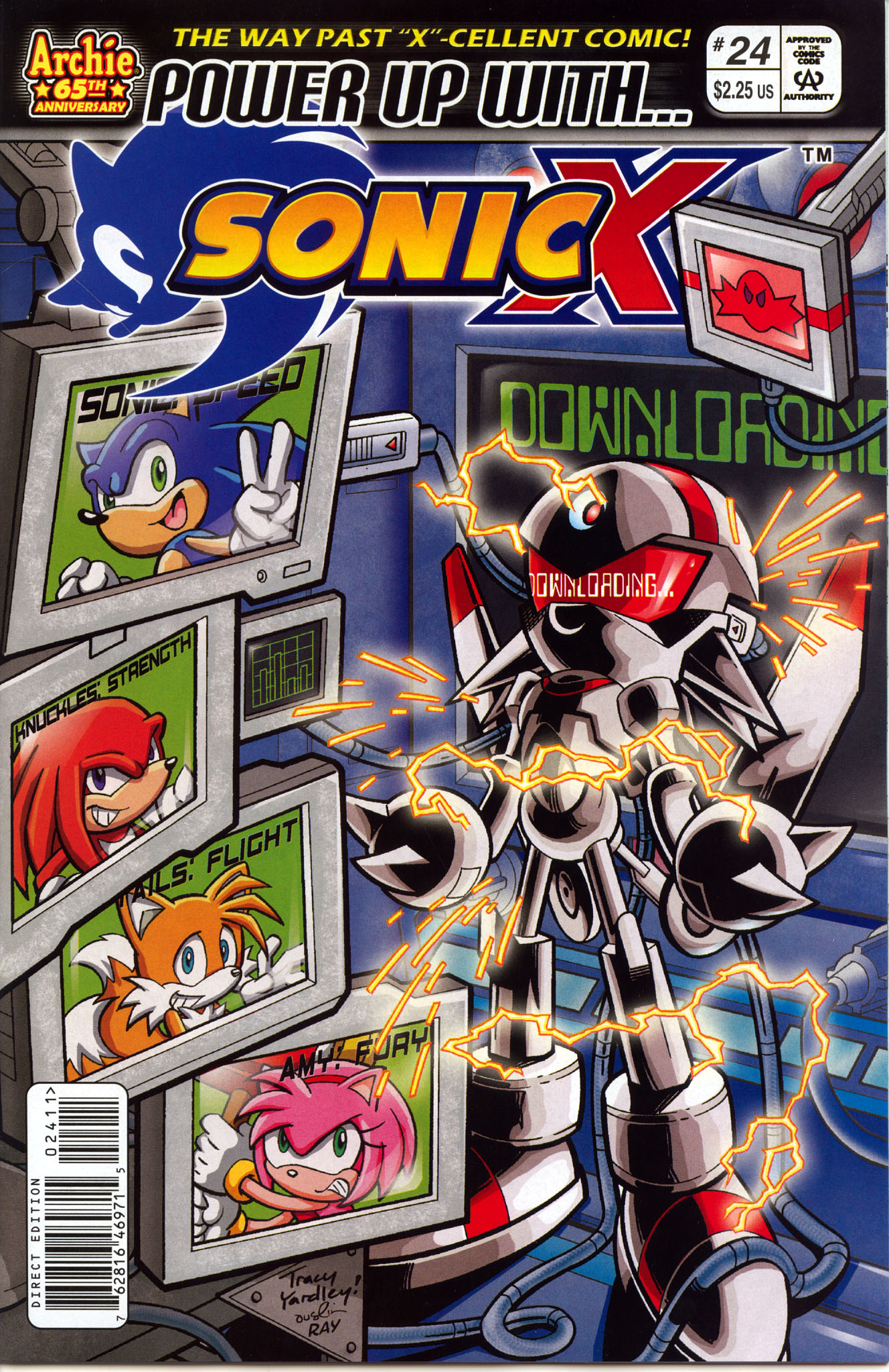 Sonic X - October 2007 Comic cover page