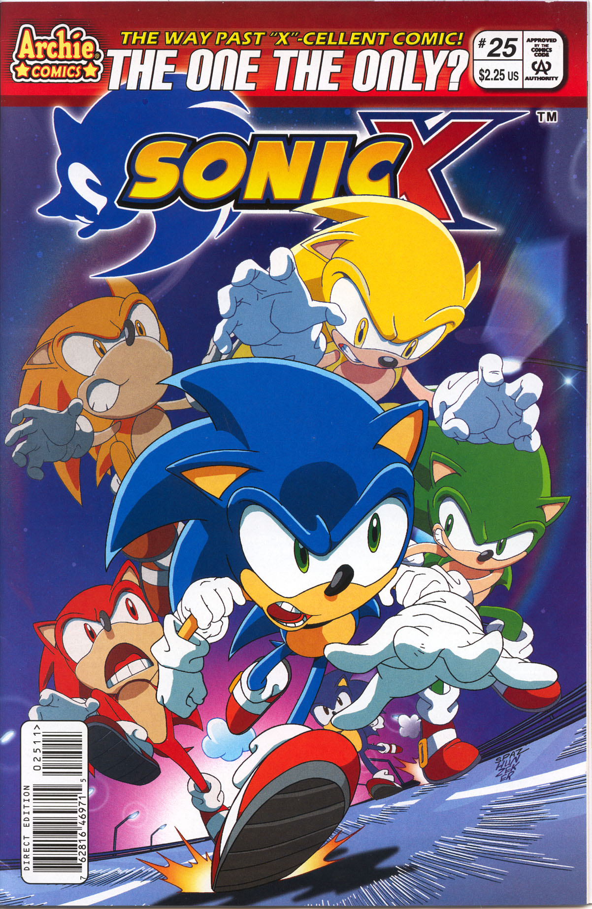 Sonic X - November 2007 Comic cover page