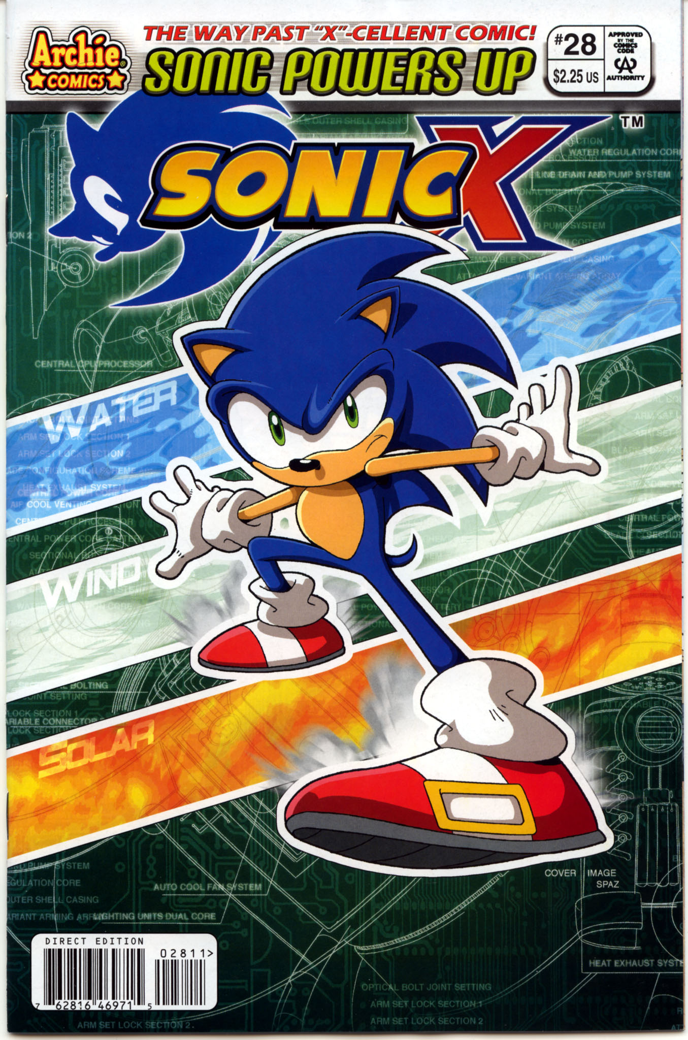 Sonic X - February 2008 Comic cover page