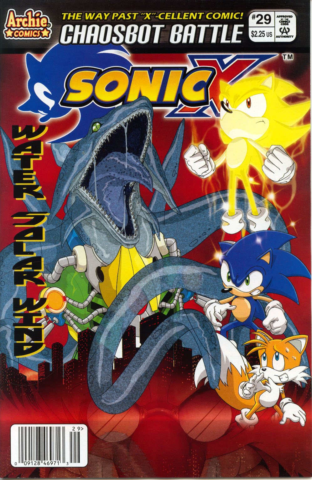 Sonic X - March 2008 Comic cover page