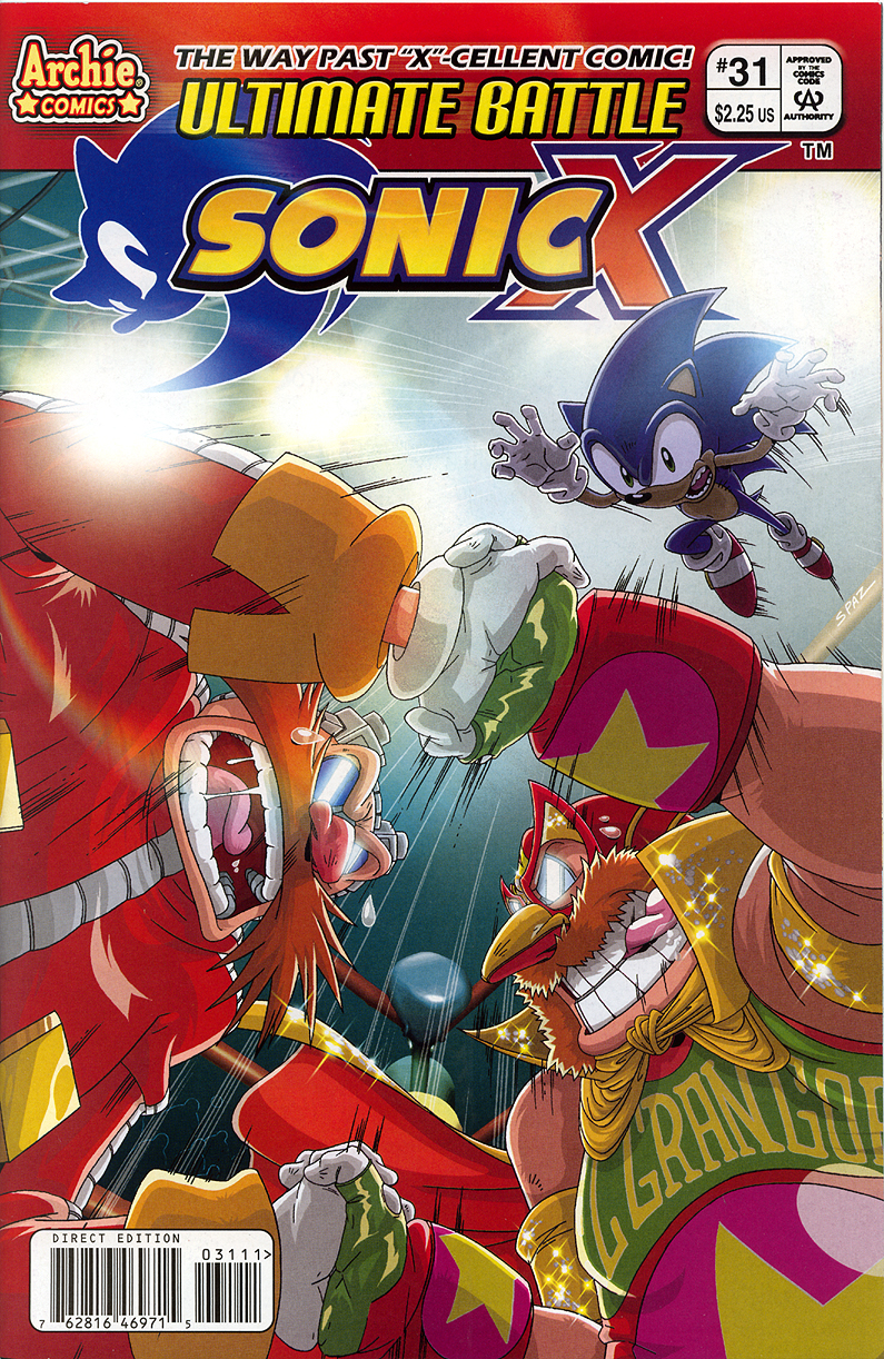 Sonic X - May 2008 Comic cover page