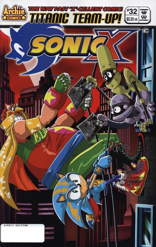 Sonic X - June 2008 Comic cover page