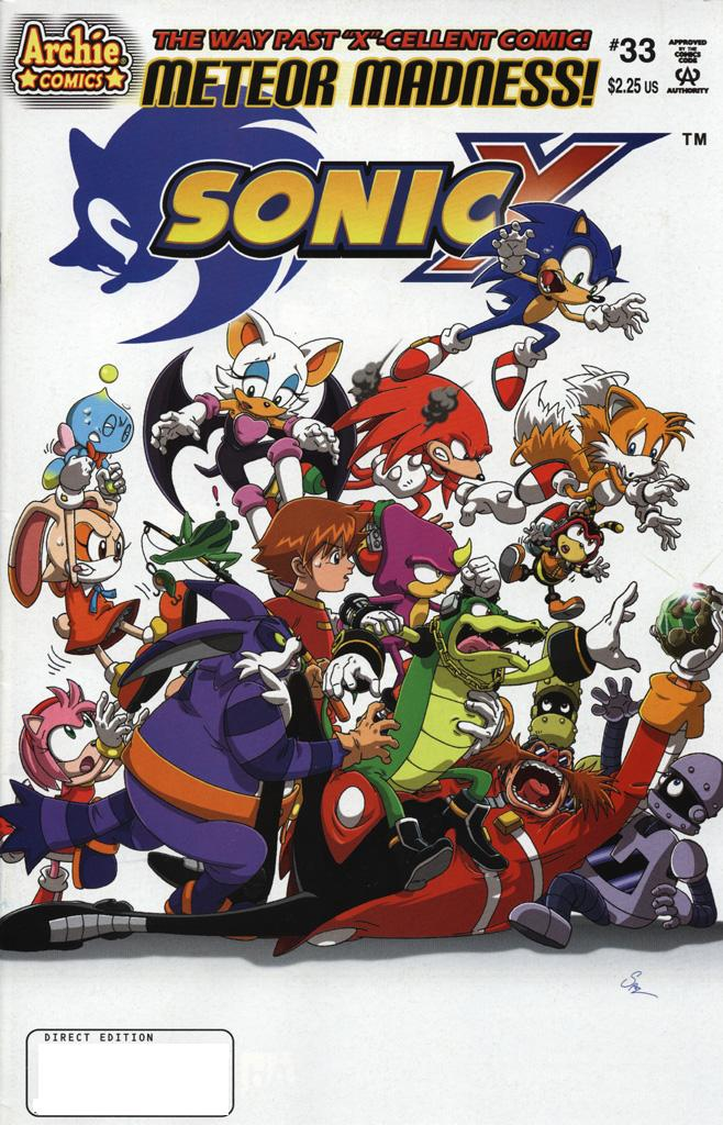 Sonic X - July 2008 Comic cover page