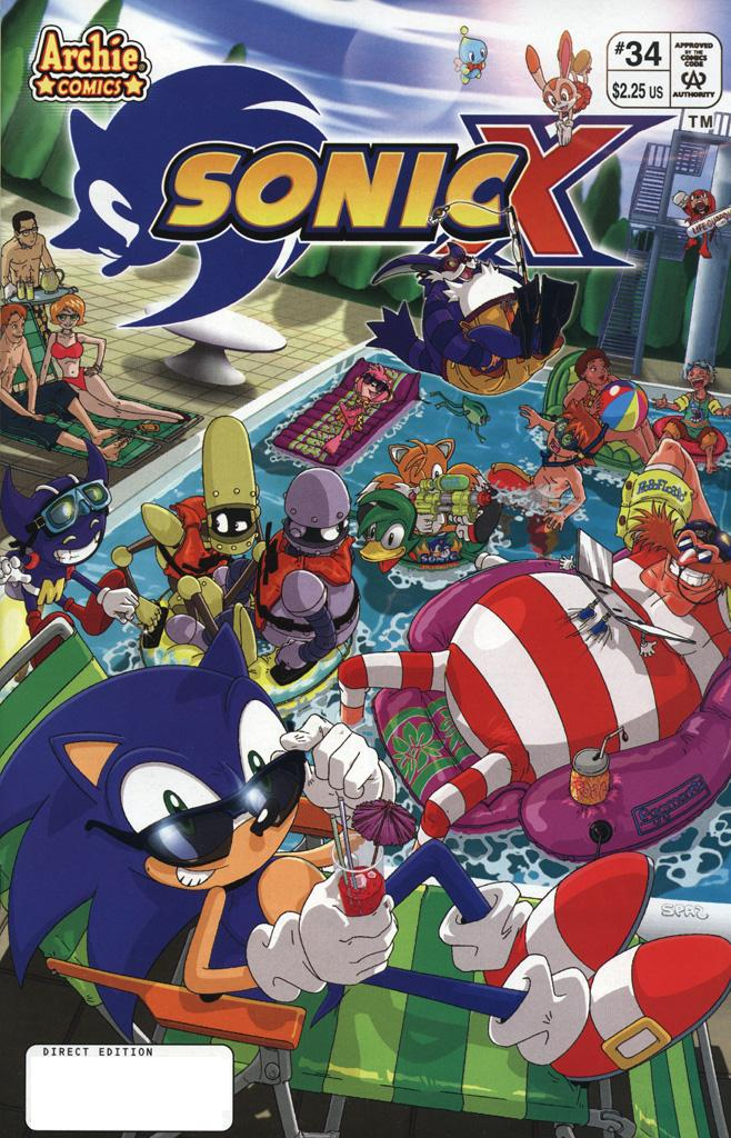 Sonic X - August 2008 Comic cover page