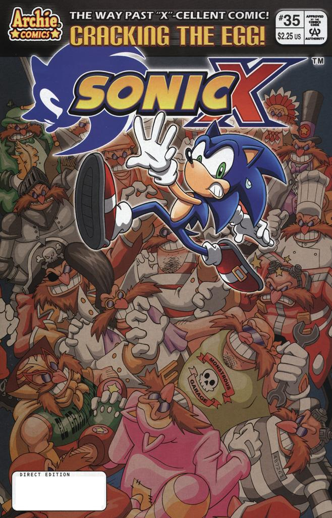 Sonic X - September 2008 Comic cover page