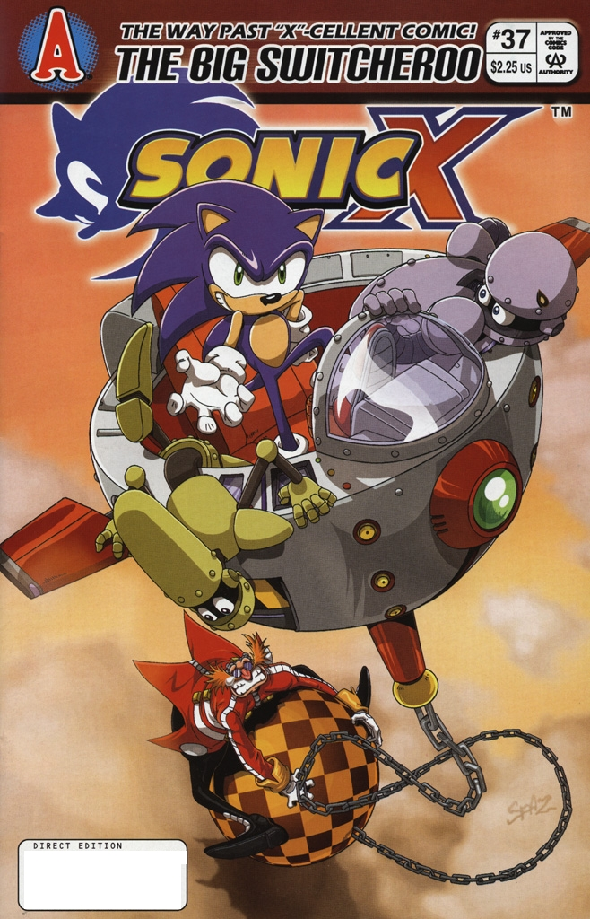 Sonic X - November 2008 Cover Page
