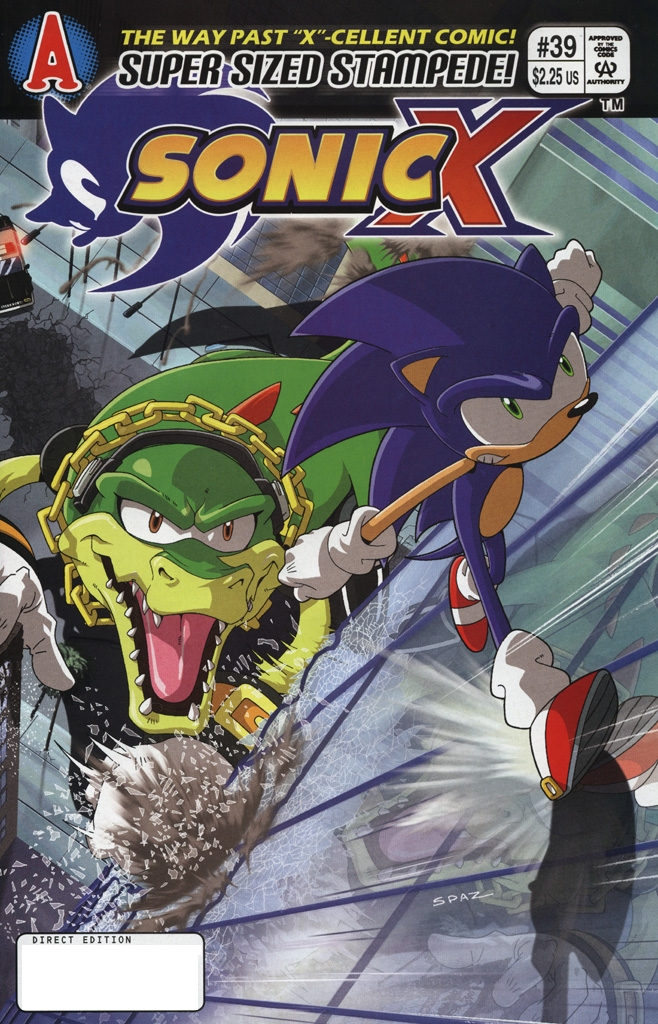 Sonic X - January 2009 Comic cover page