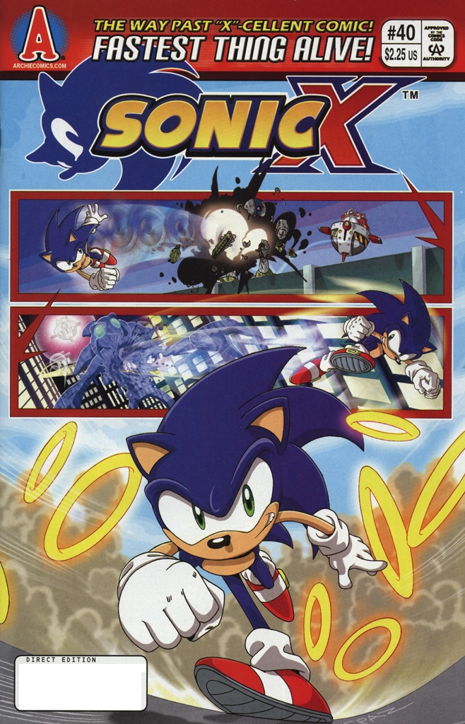 Sonic X - February 2009 Cover Page
