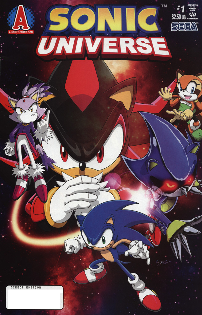 Sonic Universe Issue No. 01 Comic cover page