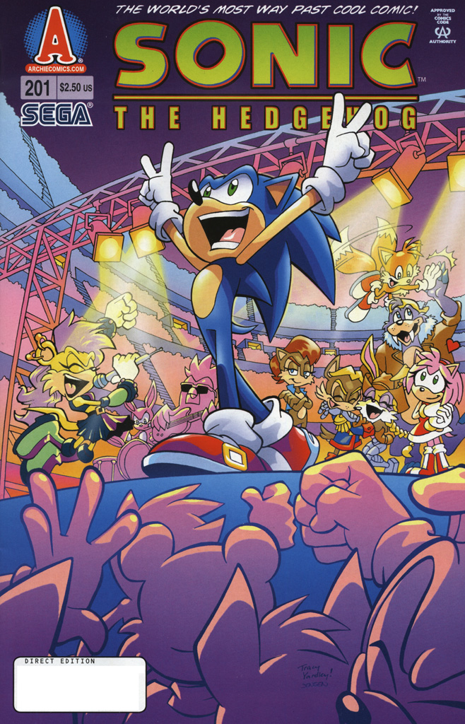 Sonic - Archie Adventure Series August 2009 Comic cover page