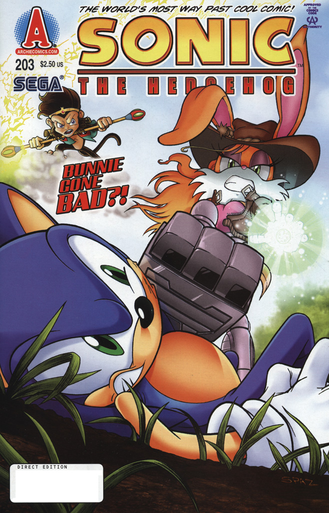 Sonic - Archie Adventure Series October 2009 Comic cover page