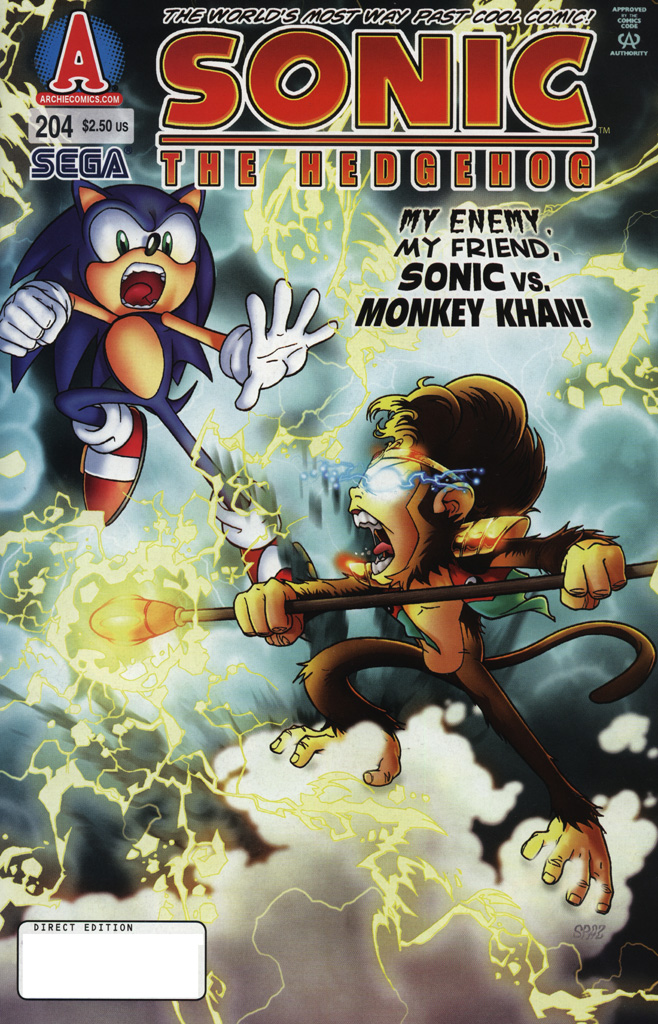 Sonic - Archie Adventure Series November 2009 Comic cover page