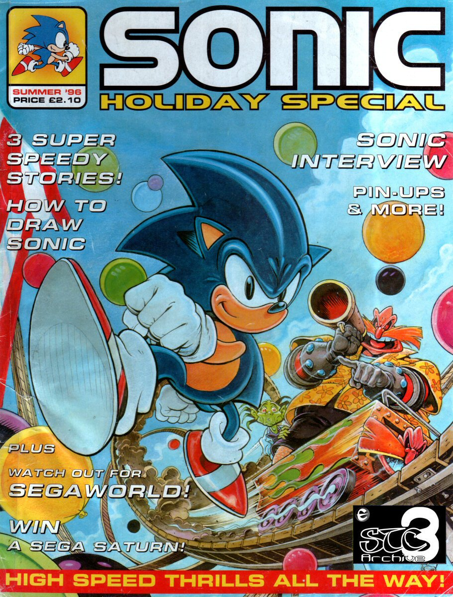 Sonic Holiday Special - Summer 1996 Comic cover page