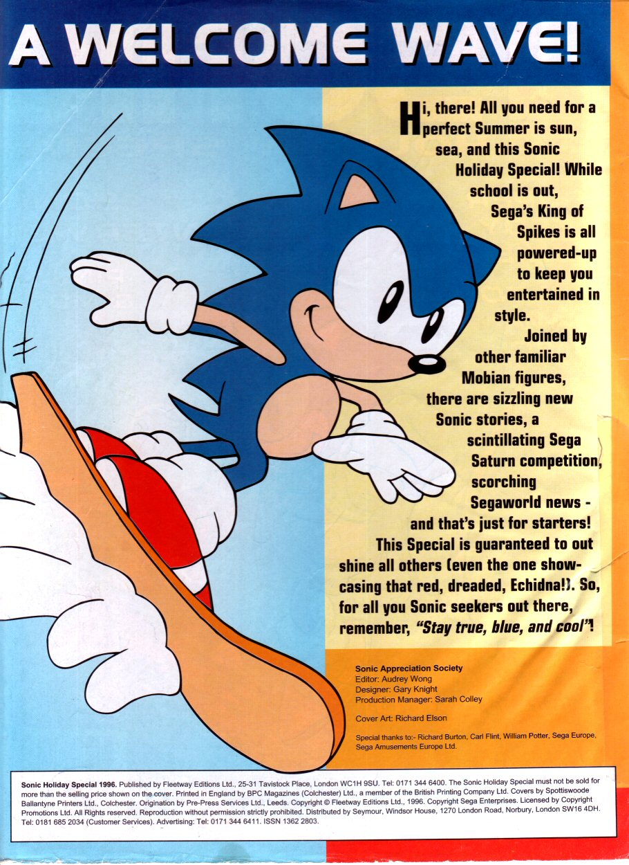 Sonic Holiday Special - Summer 1996 Page 1