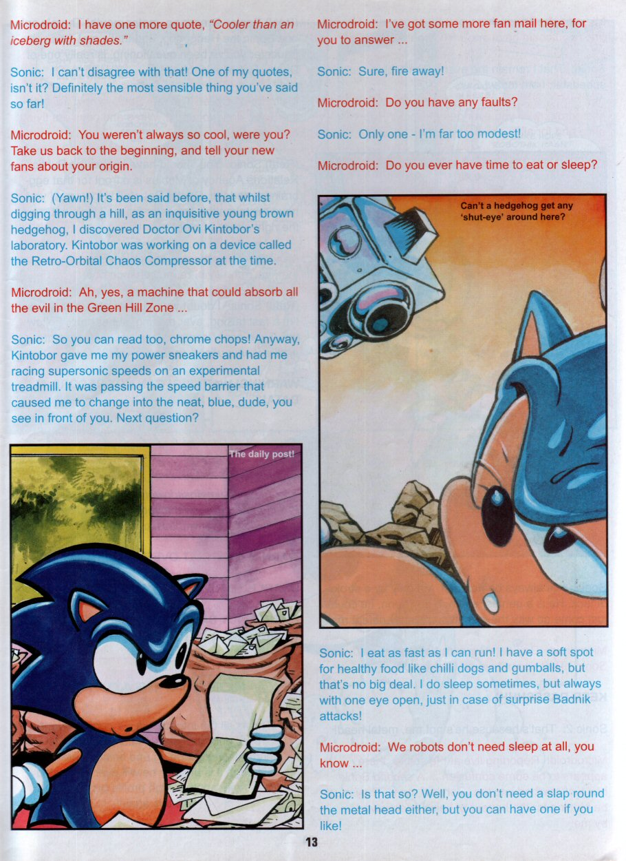 Sonic Holiday Special - Summer 1996 Page 14