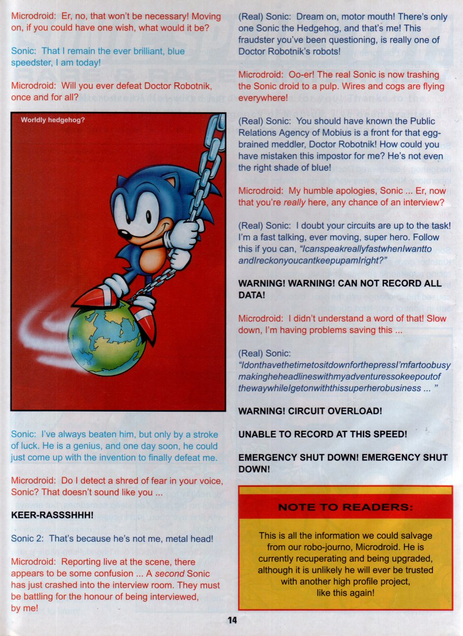 Sonic Holiday Special - Summer 1996 Page 15