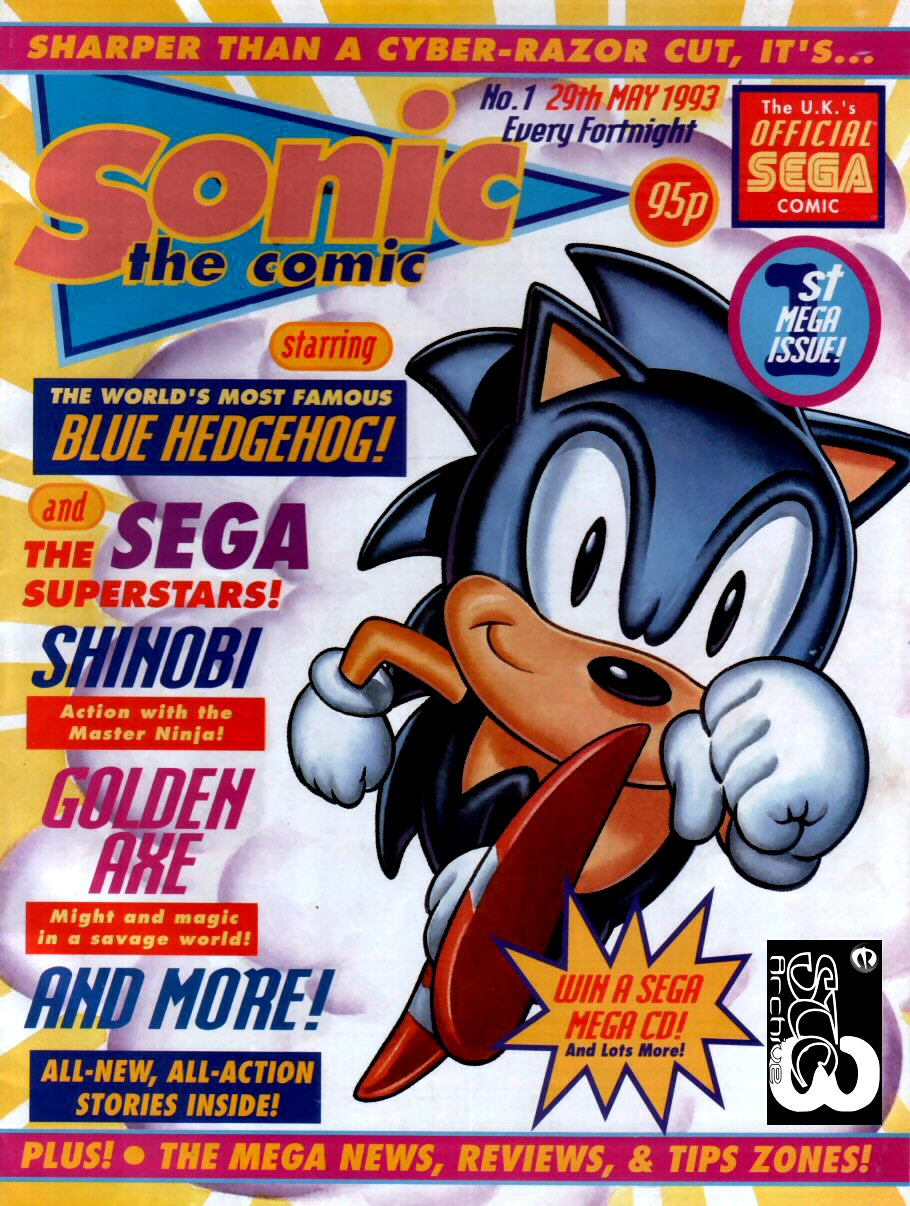 Sonic - The Comic Issue No. 001 Comic cover page