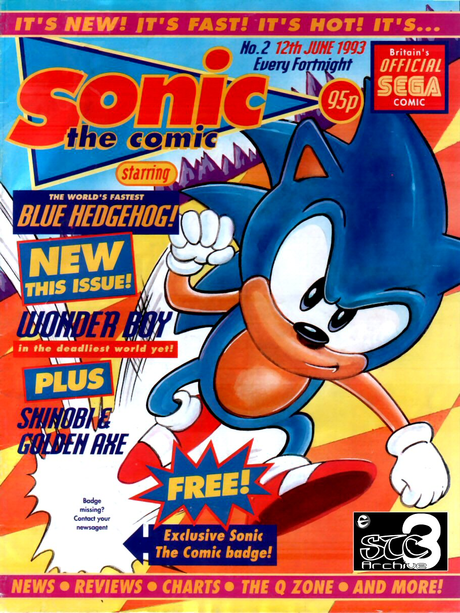 Sonic - The Comic Issue No. 002 Comic cover page