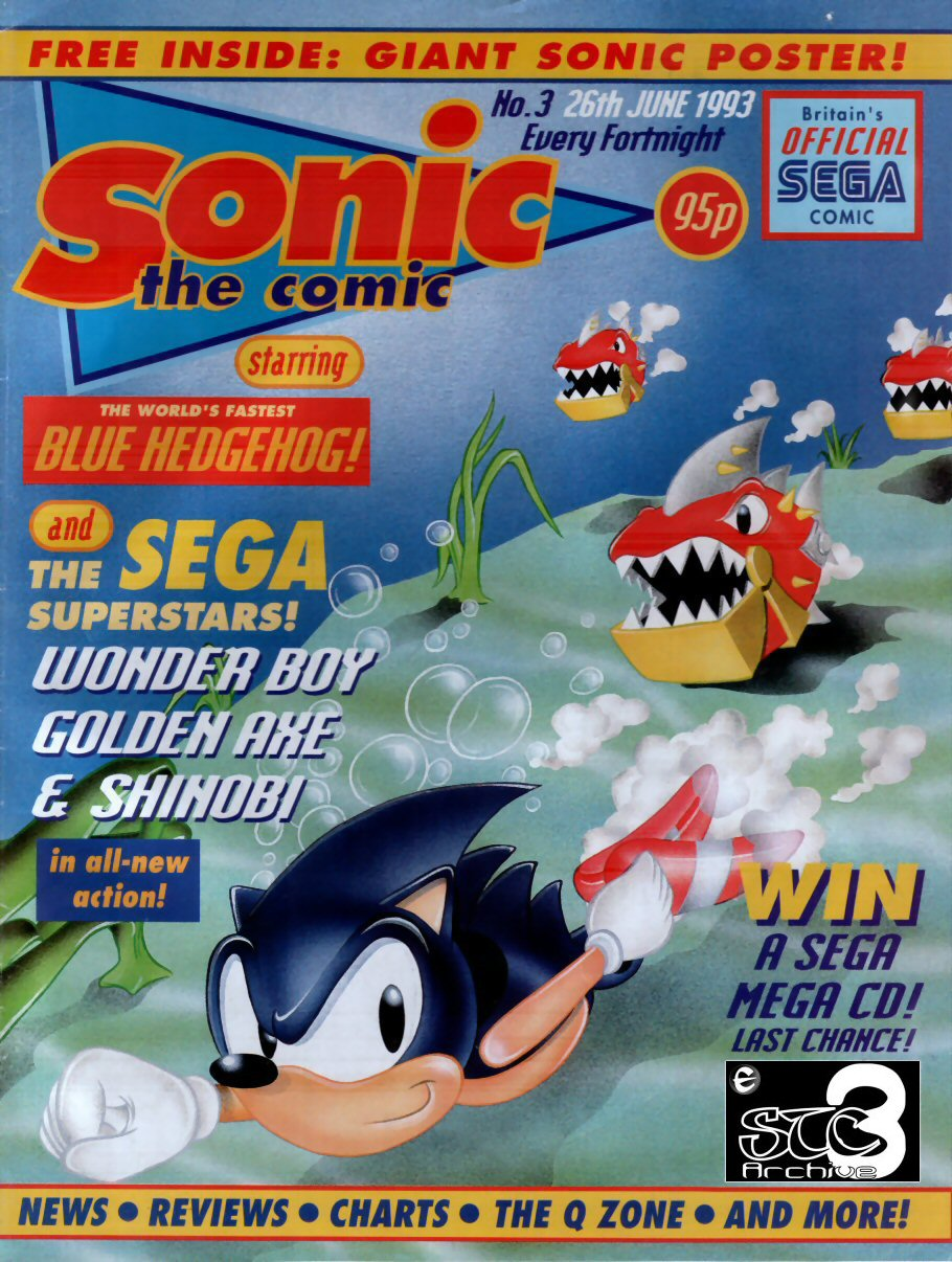 Sonic - The Comic Issue No. 003 Cover Page