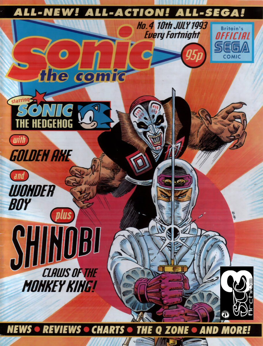 Sonic - The Comic Issue No. 004 Comic cover page