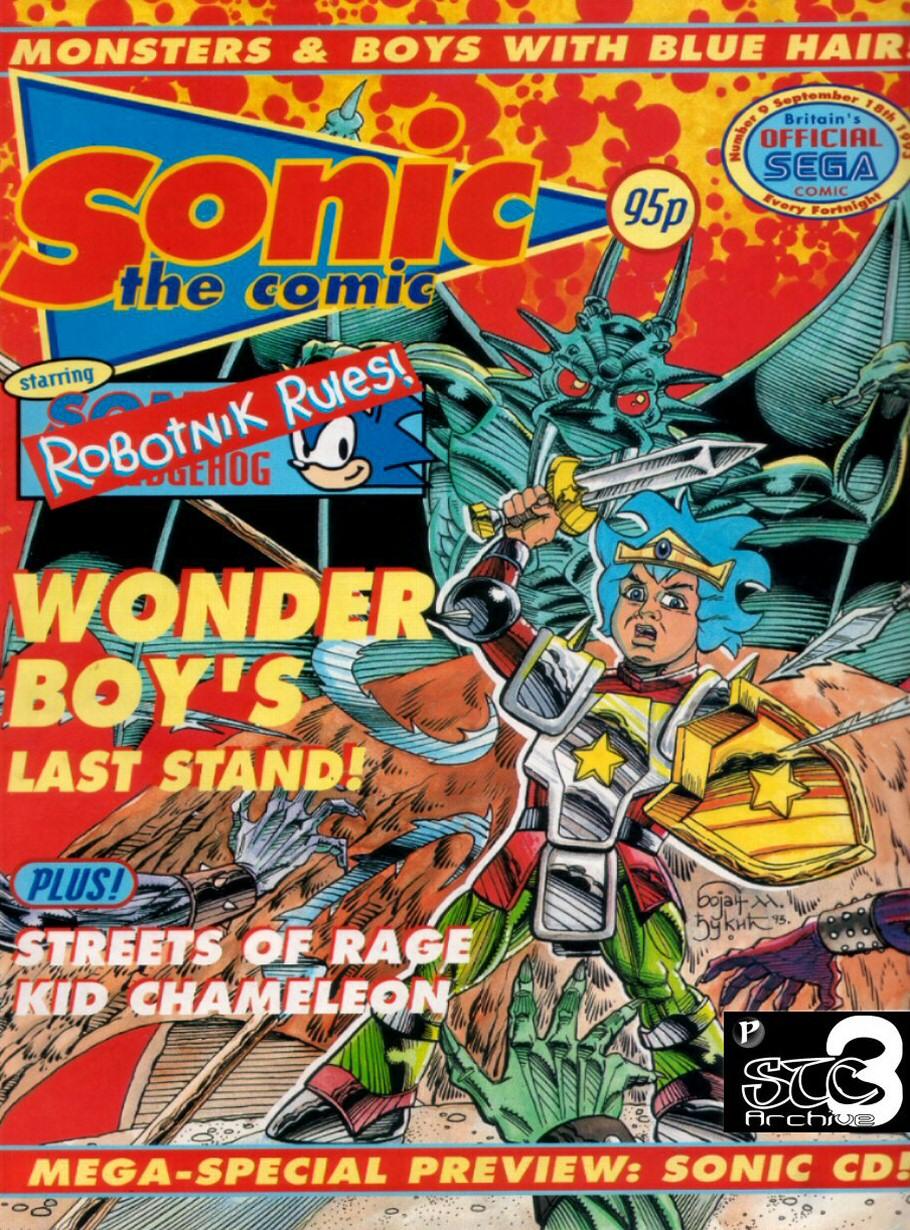 Sonic - The Comic Issue No. 009 Comic cover page