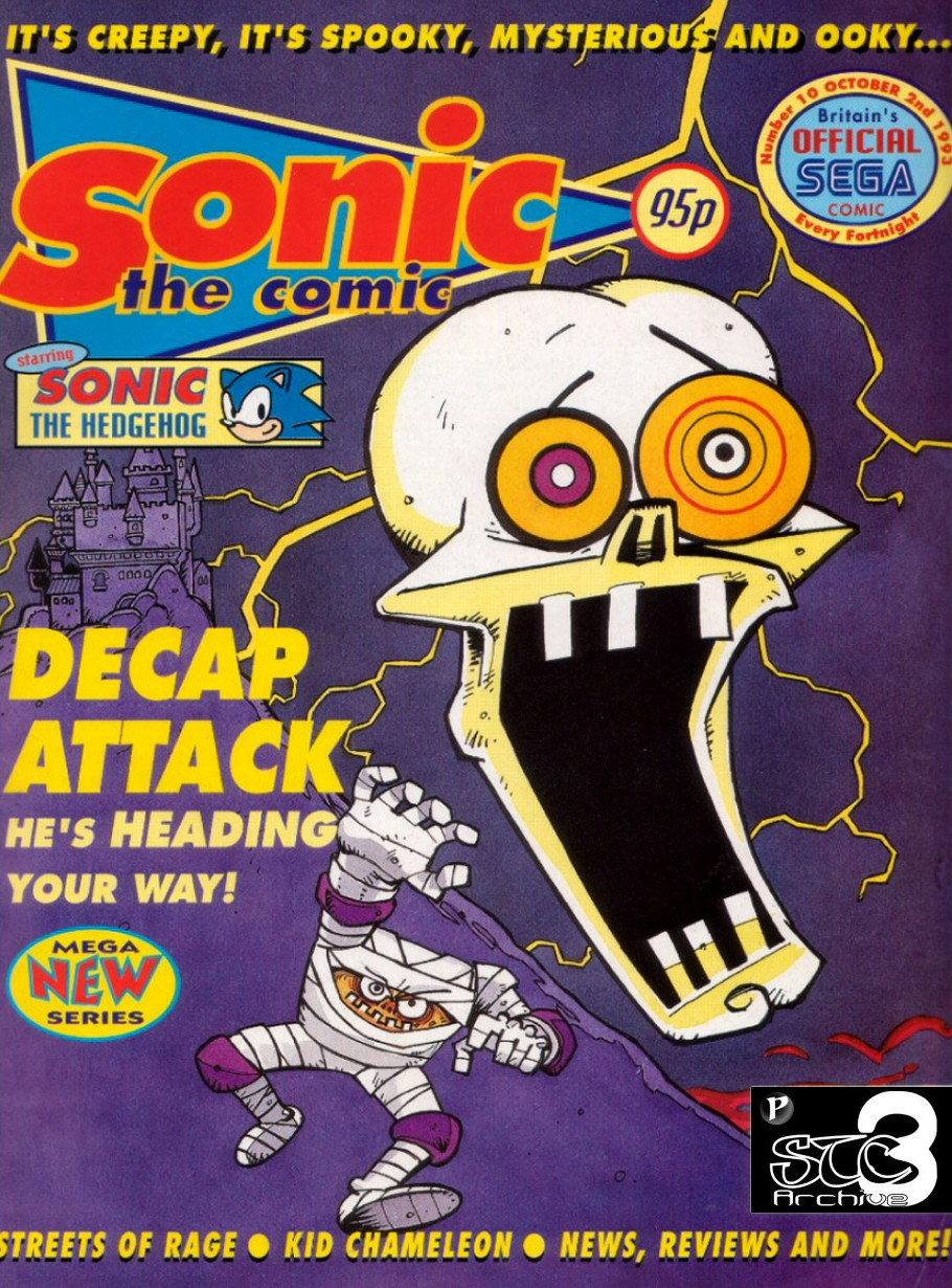 Sonic - The Comic Issue No. 010 Comic cover page